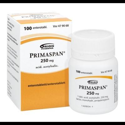 PRIMASPAN 250 mg enterotabl 100 kpl