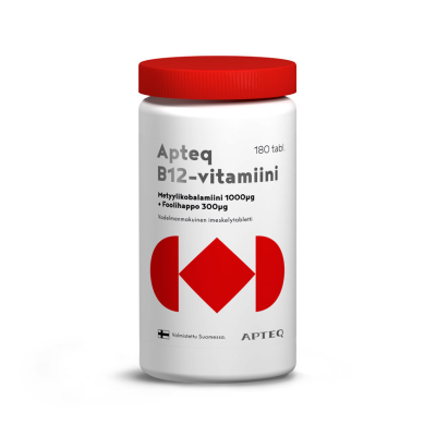 Apteq B12 metyylikobalamiini 1000 mikrog 180 tabl