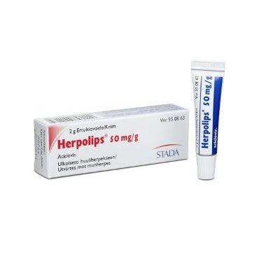 HERPOLIPS 50 mg/g emuls voide 2 g