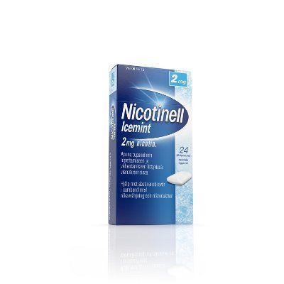NICOTINELL ICEMINT 2 mg lääkepurukumi 24 fol