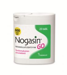 NOGASIN GO 600 GaIU PURUTABLETTI 25 kpl