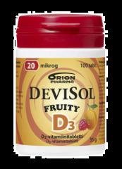 DEVISOL FRUITY 20 MIKROG IMESKELYTABLETTI 100 kpl