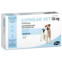 EXPROLINE VET 134 mg paikallisvaleluliuos 3x1,34 ml