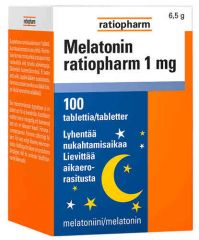MELATONIN RATIOPHARM 1MG X100TABL